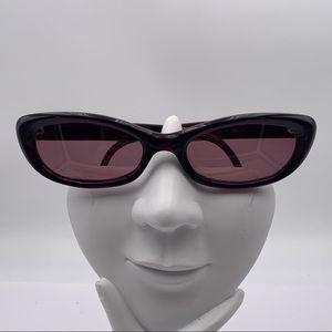 Oleg Cassini 5025 Red Oval Sunglasses Frames